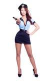 женщина-полицейский сексуальный Стоковая Фотография RF