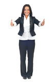 женщина полной длины рук открытая Стоковое Изображение RF