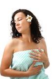 женщина полотенца цветка стоцвета Стоковые Изображения RF