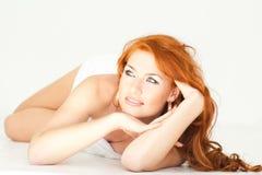 женщина полотенца Стоковые Фотографии RF