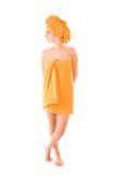 женщина полотенца стоковая фотография