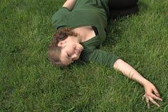 женщина поля Стоковые Изображения RF