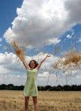 женщина поля Стоковое Изображение