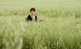 женщина поля Стоковое фото RF