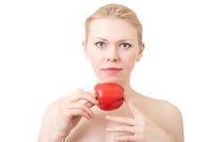 женщина помадки перца Стоковые Изображения
