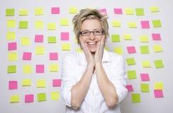 женщина портрета бумаг примечания дела Стоковое Изображение RF