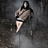 Женщина портрета воина Стоковое фото RF
