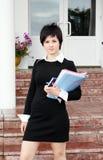 женщина портрета дела Стоковые Фотографии RF