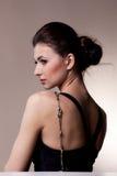 женщина портрета исключительных ювелирных изделий роскошная Стоковые Изображения RF