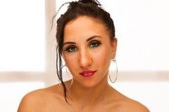 женщина портрета красотки кавказская Стоковые Фотографии RF