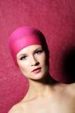 женщина портрета красотки розовая Стоковое фото RF