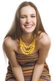 женщина портрета красотки счастливая стоковое изображение