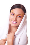 Женщина портрета красотки с ярким составом Стоковые Изображения