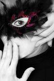 женщина портрета маски масленицы стоковое изображение rf