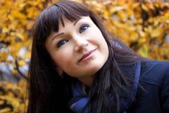 женщина портрета осени Стоковая Фотография RF