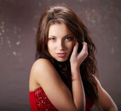 женщина портрета очарования сексуальная Стоковая Фотография RF