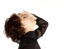 женщина портрета предпосылки белая Стоковое Изображение RF