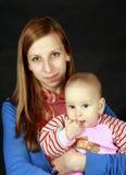 женщина портрета ребенка Стоковые Фото