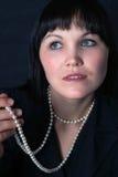 женщина портрета ретро Стоковая Фотография RF