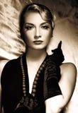 женщина портрета ретро стоковые изображения