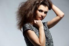 женщина портрета способа платья Стоковое Изображение RF