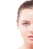 женщина портрета стороны крупного плана половинная Стоковое Изображение RF