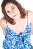 женщина портрета супоросая милая Стоковое Изображение RF