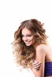 женщина портрета сь Волосы и состав Стоковое Фото