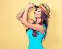 женщина портрета сь красивая модель в стиле моды Стоковое Фото