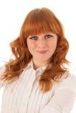 Женщина портрета с улыбкой стоковые фотографии rf