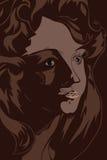 женщина портрета Иллюстрация вектора