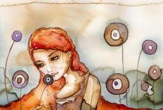 женщина портрета бесплатная иллюстрация