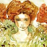 женщина портрета иллюстрация штока