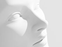 женщина портрета 3d Стоковые Фотографии RF