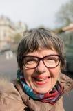 женщина портрета dof старшая отмелая Стоковые Фотографии RF