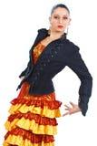 женщина портрета flamenco танцора стоковое изображение
