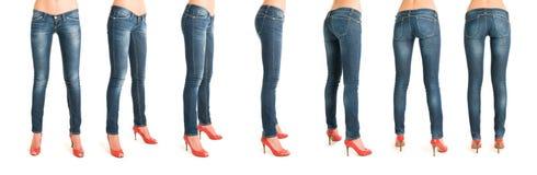 женщина последовательности ног Стоковые Изображения