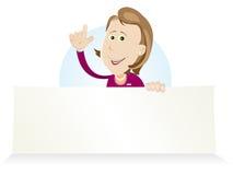 женщина поставщика рынка шаржа Стоковая Фотография RF