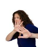 Женщина постаретая серединой защищая стоковое изображение rf