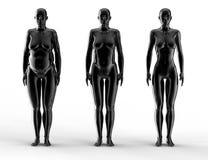 Женщина потери веса Стоковые Изображения