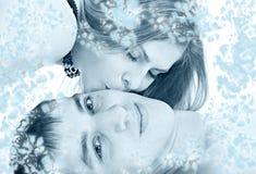 Женщина поцелуя Стоковая Фотография RF