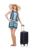 Женщина подготавливая на летние каникулы Стоковые Фото