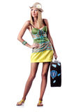 Женщина подготовляя на каникула Стоковые Фотографии RF