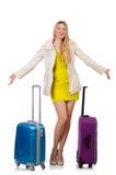 Женщина подготовляя на каникула Стоковая Фотография RF