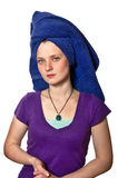 женщина полотенца фокуса поля глубины отмелая мягкая Стоковое Изображение RF