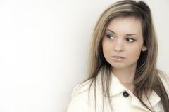 женщина предпосылки красивейшая белая Стоковые Изображения RF