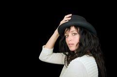женщина предпосылки черная этническая Стоковое Фото