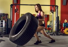 Женщина пригодности в гимнастике стоковое изображение