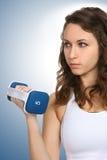 женщина пригодности тренировки Стоковые Изображения