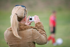 женщина принимать изображения Стоковое Изображение RF